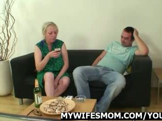 Cock hungry mom jumps on her son-in-la...