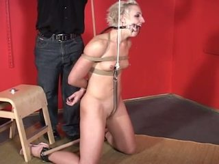 Porner Premium Jon R: Masochist babe has her hands tied up while being fucked by dildo