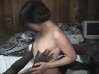 interracial, creampie, asian