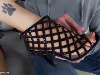 brunette, voet fetish, sexy benen