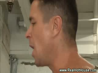 Hot jock pornstar lays back and fucked in his tight ass
