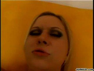 Loiro aaralyn barra receives dela apertada hole pounded difícil