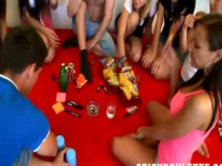 Real college party sex spinner bottle