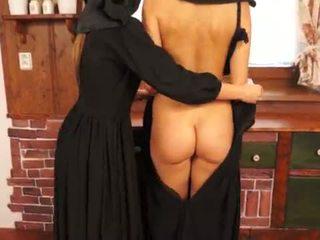 مقرف catholic nuns عمل sins و licking كس