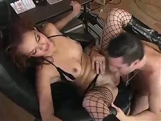 Daisy Dukes In Dark Stocking Receives Her Wet Pussy Licked