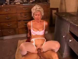 Grany fucked hard from young boy video