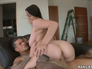 Busty Teen on Cowboy Boots Rides a Dick