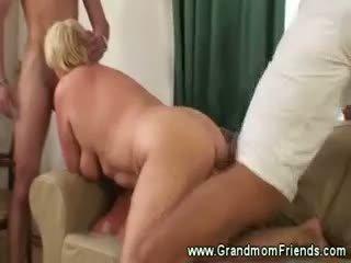 Hot And Horny Granny Threesome