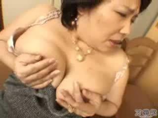japán, maszturbál, érett, anyu