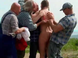 Extreme pissing group sex