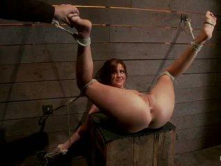 Miela 20yr senas mergaitė kitas durys apribojimas su kojos į viršų spread pėda kankinimas plakimas finger banged sunkus