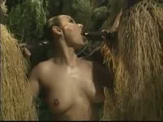 África brutally fucked amérika woman in alas video