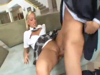 Schoolgirl Lilly Kingston seduces fathers boss