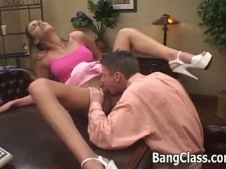 Schoolgirl takes it by the teacher in the ass