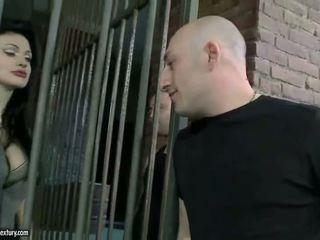 Aletta Ocean getting double fucked in prison