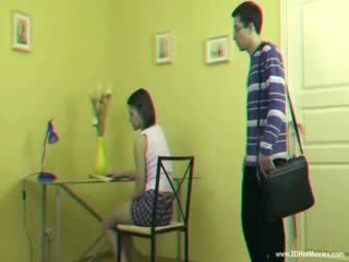 3D Rough teacher is spanking a sexy ass