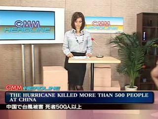 News anouncer Facial on TV Video