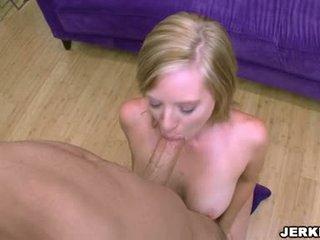 Wild Golden Haired Naomi Cruise Deepthroating A Long White Wang
