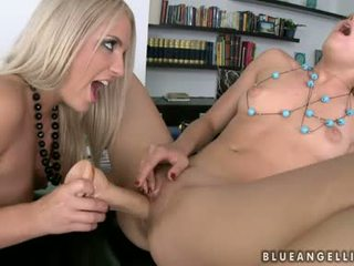 Blue Angel And Britney Spring Pussy Dildo Nailed