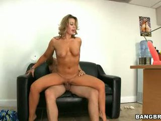 Ashley Sweet Receive A Hard Ace Fuck On Black Ottoman