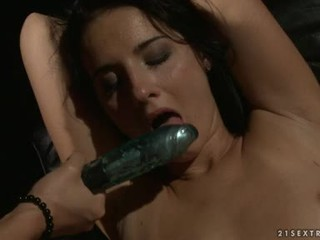 Katy Borman Let Fastened Babe Suck The Dildo