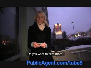 Publicagent si rambut perang lauras pantat/ punggung gets covered dalam saya air mani