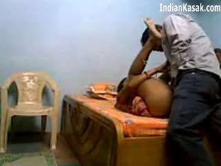 Indické servant jebanie veľmi ťažký s houseowner v spálňa
