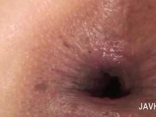 Азіатська анал кінчання в close-up з голий збуджена краля