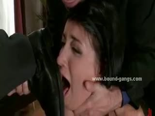 Mobsters Interview Slut Ripping Her Holes In Rough Violent