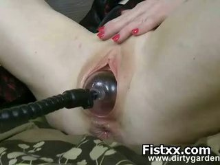 Hot Busty Woman Perverted Fisting