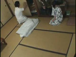 japonais, baise, massage