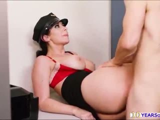 Hot campus security Jayden James gets her big tits motorboated and fucked