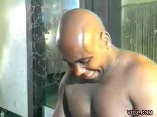 dork looking bitch enjoys Hairless and ebony men