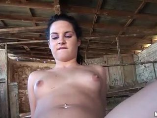 Cute babe actively fucked