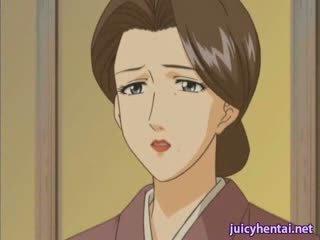 Hentai milf gets izkušene in masturbated