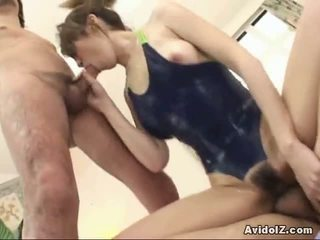 Adorable Oriental Babe Dual Blow The Whistle And Horny Sex!