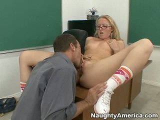 Audrey gets fucked by her teacher