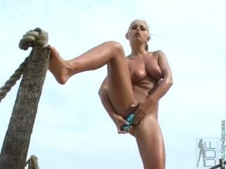 toys, outdoor sex, babe, big tits