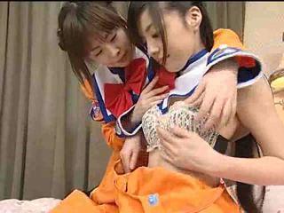 kaikki lesbot, japani lisää, tuore teini-ikäinen suuri