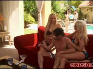 Tommy gunn - bikini threesomes seks tasha reign leya falcon