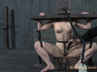 Caged up beauty needs punishment