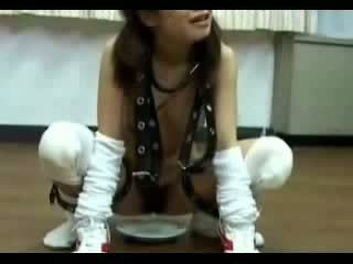 Slave Girl Forced To Drink Urine And Satisfied Mistress Video