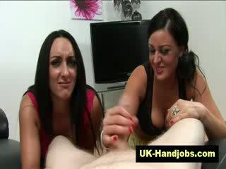Trashy english hand job