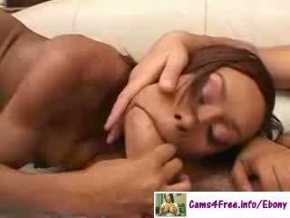ebony Lucky White Guy And Hot ebony Girl!