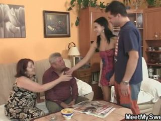 His GF seduced by perverted parents