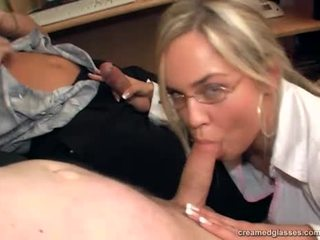 Mia Leone - Creamed On Glasses