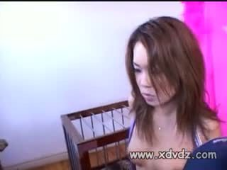 Superb Asian Girl Kammy Finds Herself In Cage sucking dicks