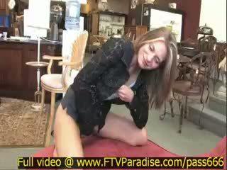 Brittni Awesome Splendid Blonde Girl In A Antique Shop