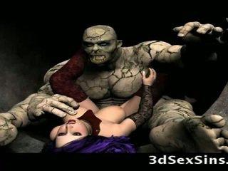 Scary ogres bang 3d cô gái!