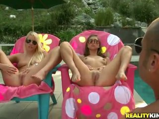 Young Riley Reed and Vanessa Cage get a pecker
